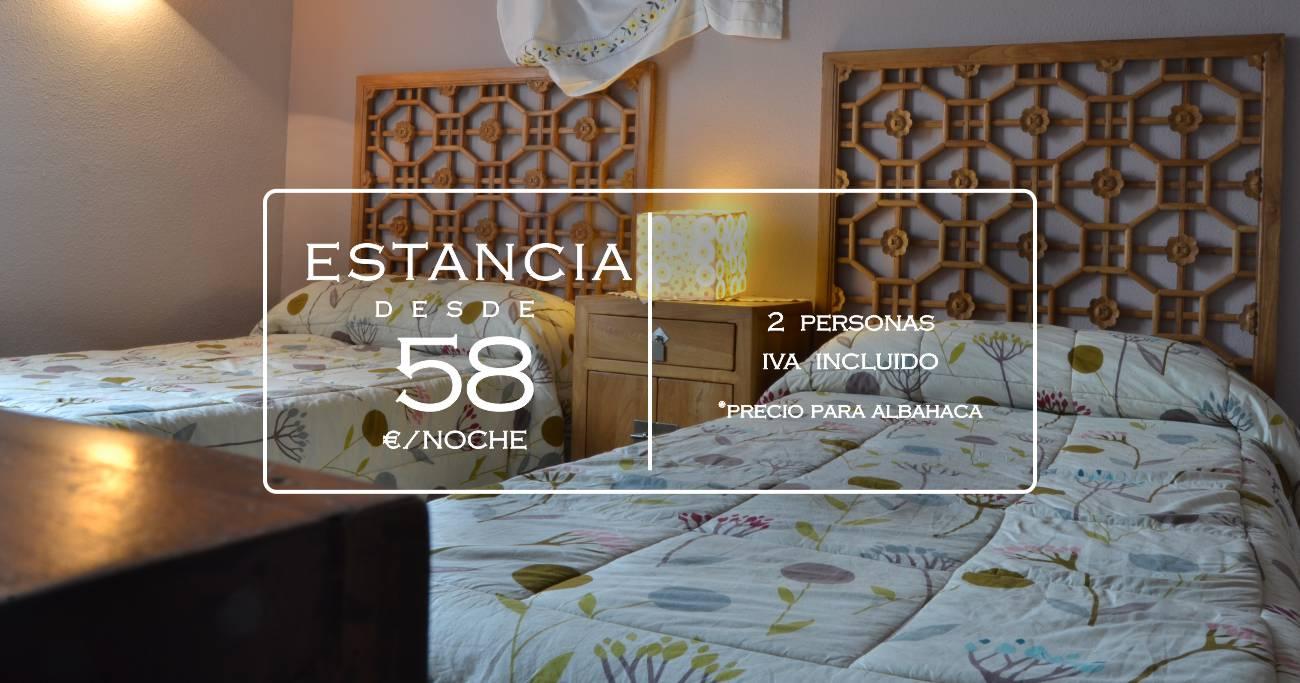 Precio habitación para 2 personas en La Aldea Encantada